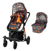 Giggle Quad Travel System with Everything Charcoal Mister Fox